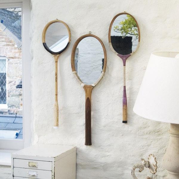 Teniszütő tükör