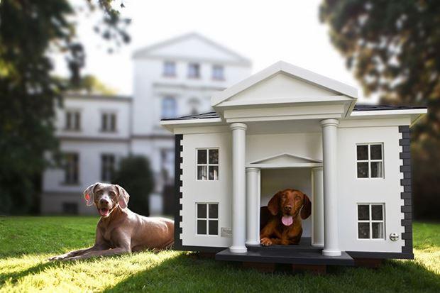 Villa stílusú kutyaház