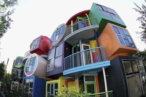 Színes tokiói ház