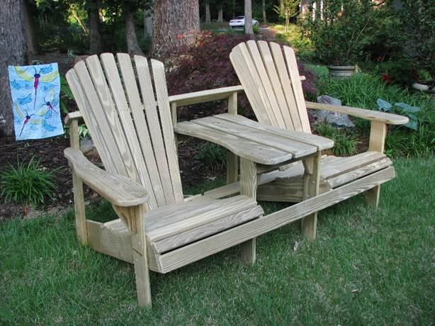 Két férőhelyes Adirondack szék